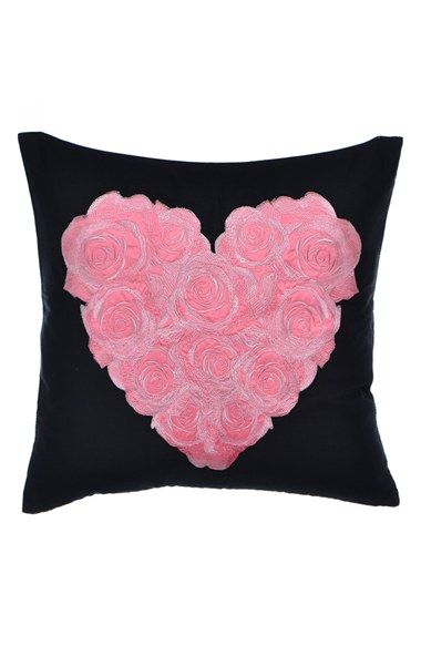 betsey johnson bedding 'punk princess' embroidered heart pillow