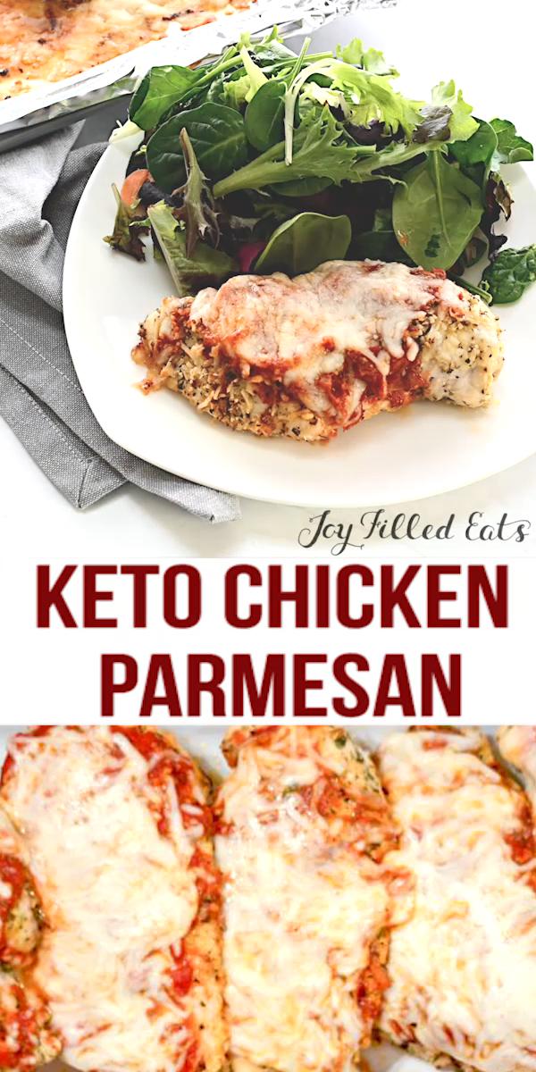 KETO Kurczak Parmezan-#keto #Kurczak #Parmezan- KETO Kurczak Parmezan  Joy Filled Eats – Gluten & Sugar Free Recipes joyfilledeats Joy Filled Eats Main Dishes Pieczony kurczak Parmezan – Low Carb, Keto, Bezzbożowy, Bezglutenowy, THM S – Chicken Parm to jedno z dań w każdej włoskiej restauracji w USA. Wiem dlaczego: jest pyszne! Ta łatwa do pieczenia wersja jest panierowana z parmezanem i ziołami i pokryta marinarą i mozzarellą. #keto #grainfree   Joy Filled Eats – Gluten & Sugar Free Recipes  P