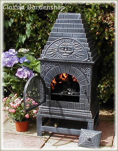 Castmaster Outdoor Garden Xl Cast Iron Pizza Oven Chiminea, Chimnea