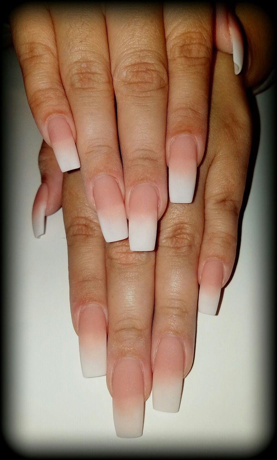 matte french ombr nails flirtatious