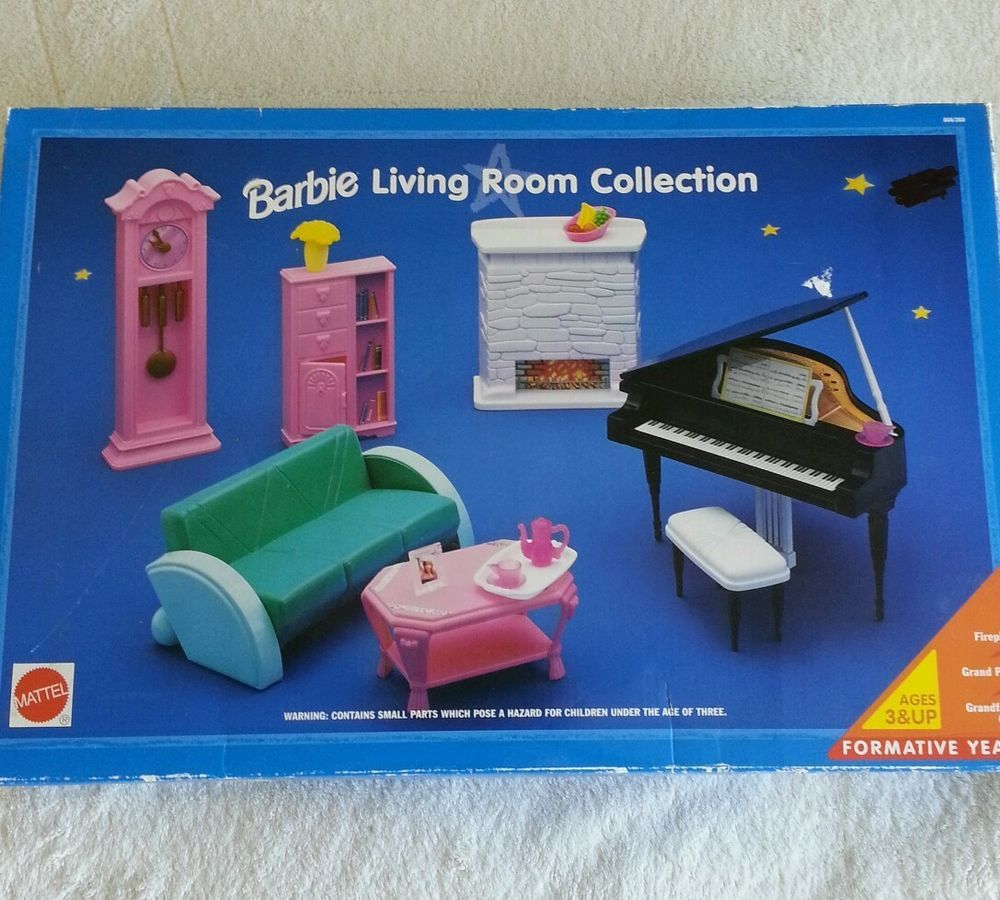 1991 Barbie Dream House Living Room Collection Furniture Grand Piano Barbie 1990 39 S