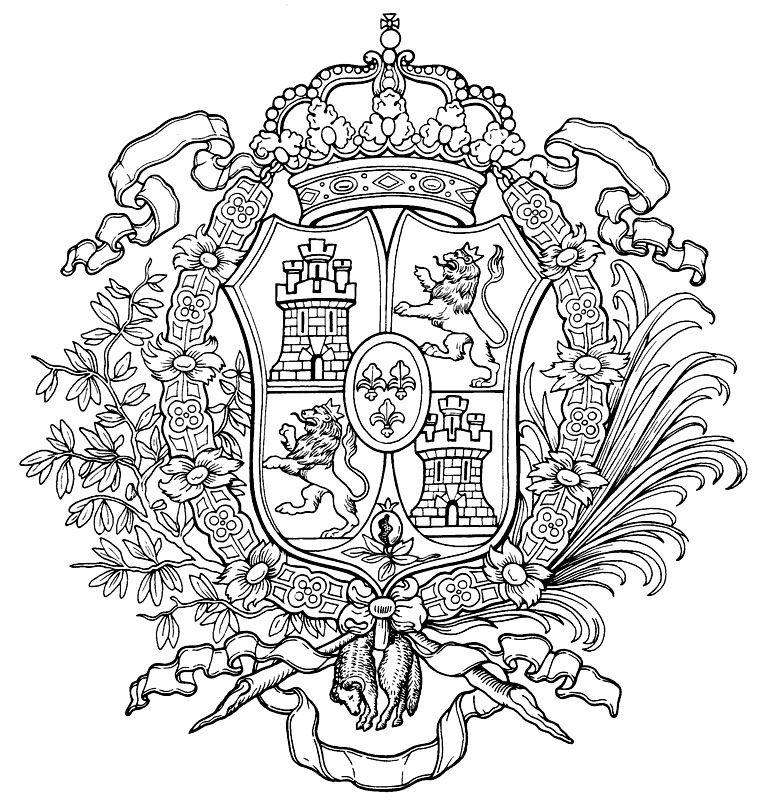 Spanish Coat Of Arms Monogram Art Coat Of Arms Crest Monogram