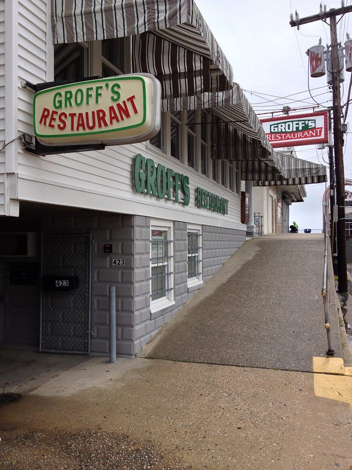 Bussing tables at groffs as a summer job and working with