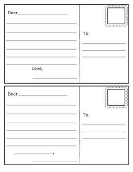 postcard template 3rd grade pinterest writing writing skills