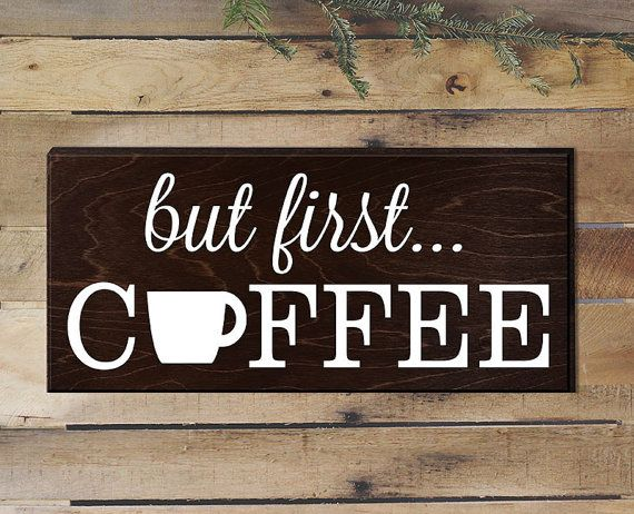 But First Coffee Sign Rustic Kitchen Decor Kitchen Wall Decor Kitchen Signs…