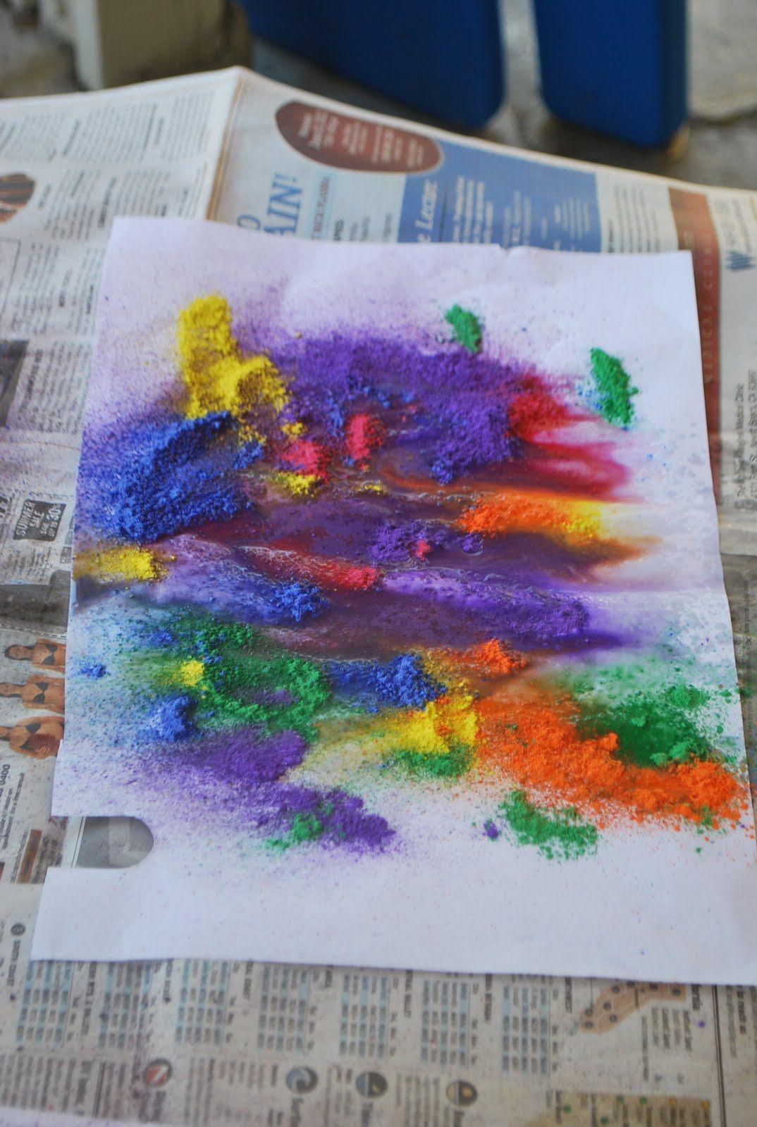 dry powdered tempera paint spray water bottle familylicious