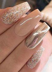 both the pink and golden nail polish look precious