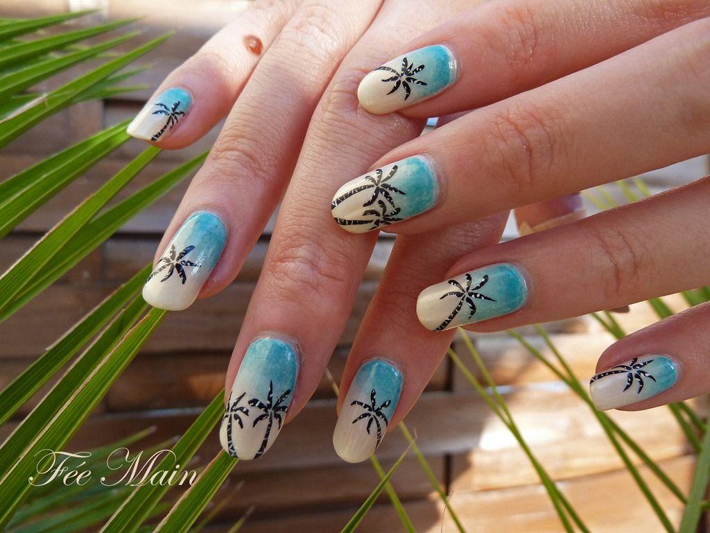 Nail Art Palmier5g Ongles Et Vernis Pinterest