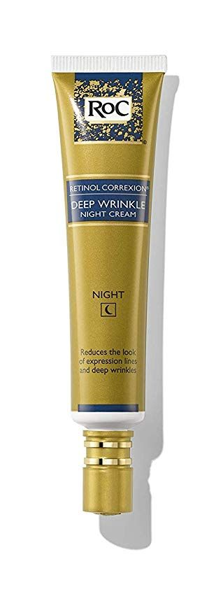 Amazon Com Roc Retinol Correxion Deep Wrinkle Anti Aging Retinol Night Cream Oil Free And Non Come In 2020 Deep Wrinkles Retinol Night Cream Anti Aging Skin Products