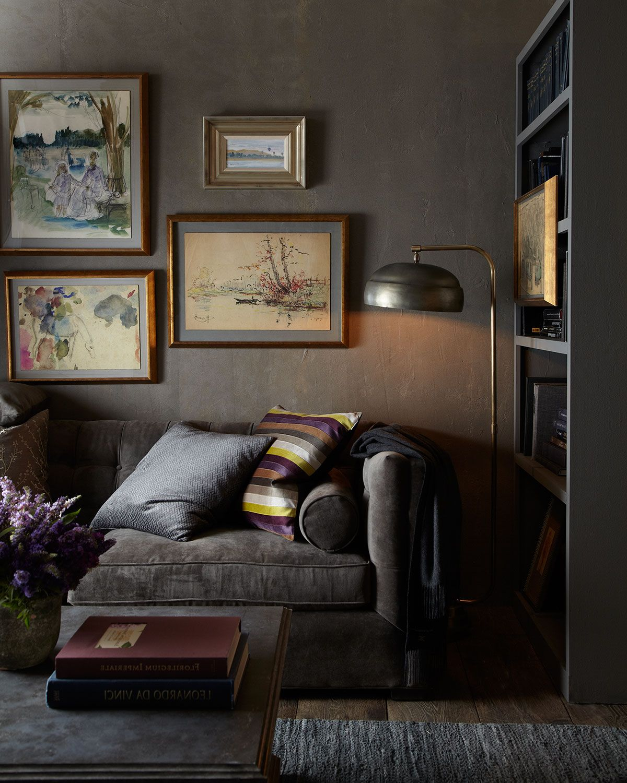 Dusk Button-Tufted Sofa 92