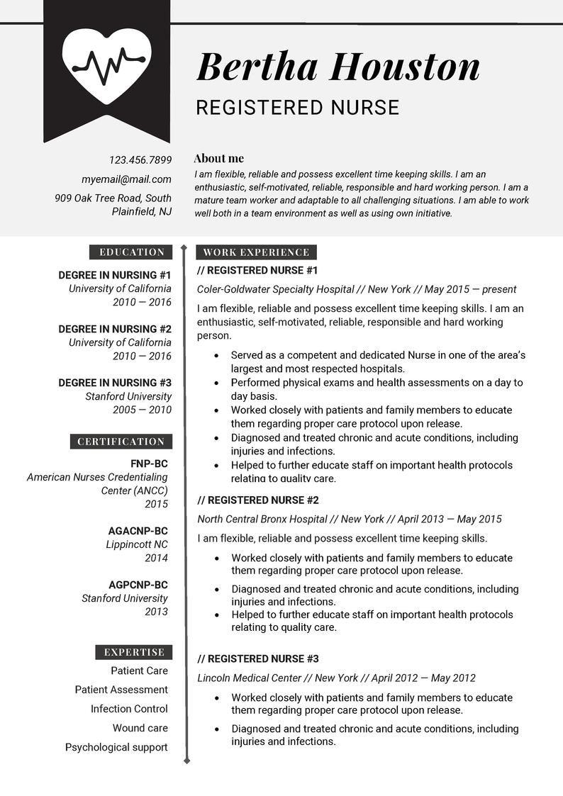 Resume Template Professional Resume Template Creative Resume