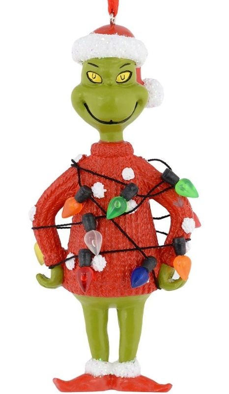 Grinch Lights Sweater Ornament - Department 56 Grinch Lights Sweater Ornament, 4-Inch  Link    #Christmas #Christmas2014