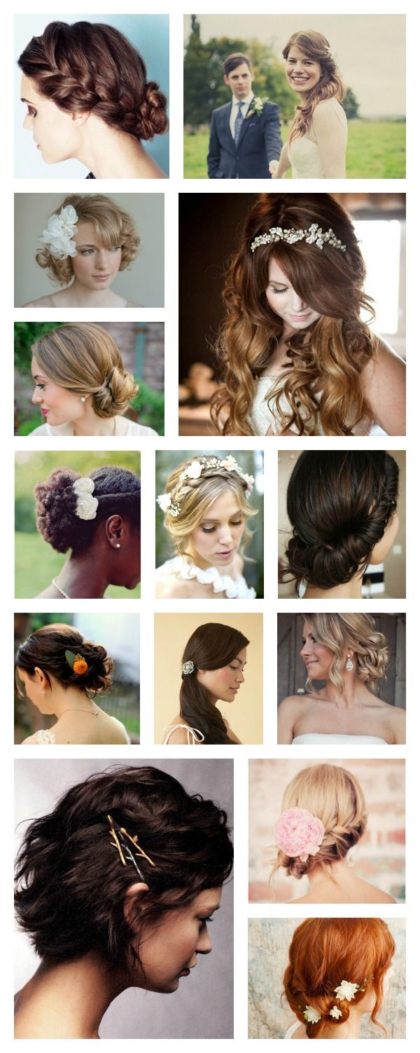 Easy casual simple bohemian wedding hair for woodsy weddings and
