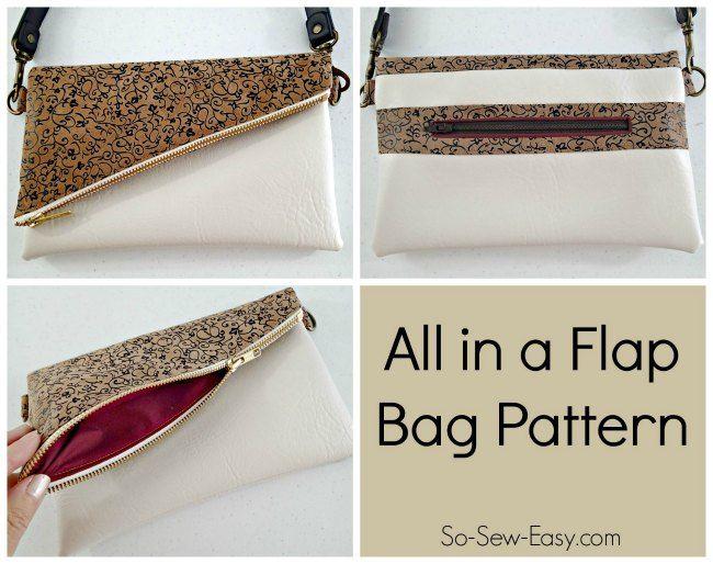 All in a Flap Bag - fold over bag pattern POTM | Bolsos, Costura y ...