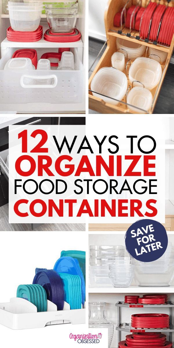 Photo of 12 Ways To Organize Tupperware & Food Storage Containers – O…
