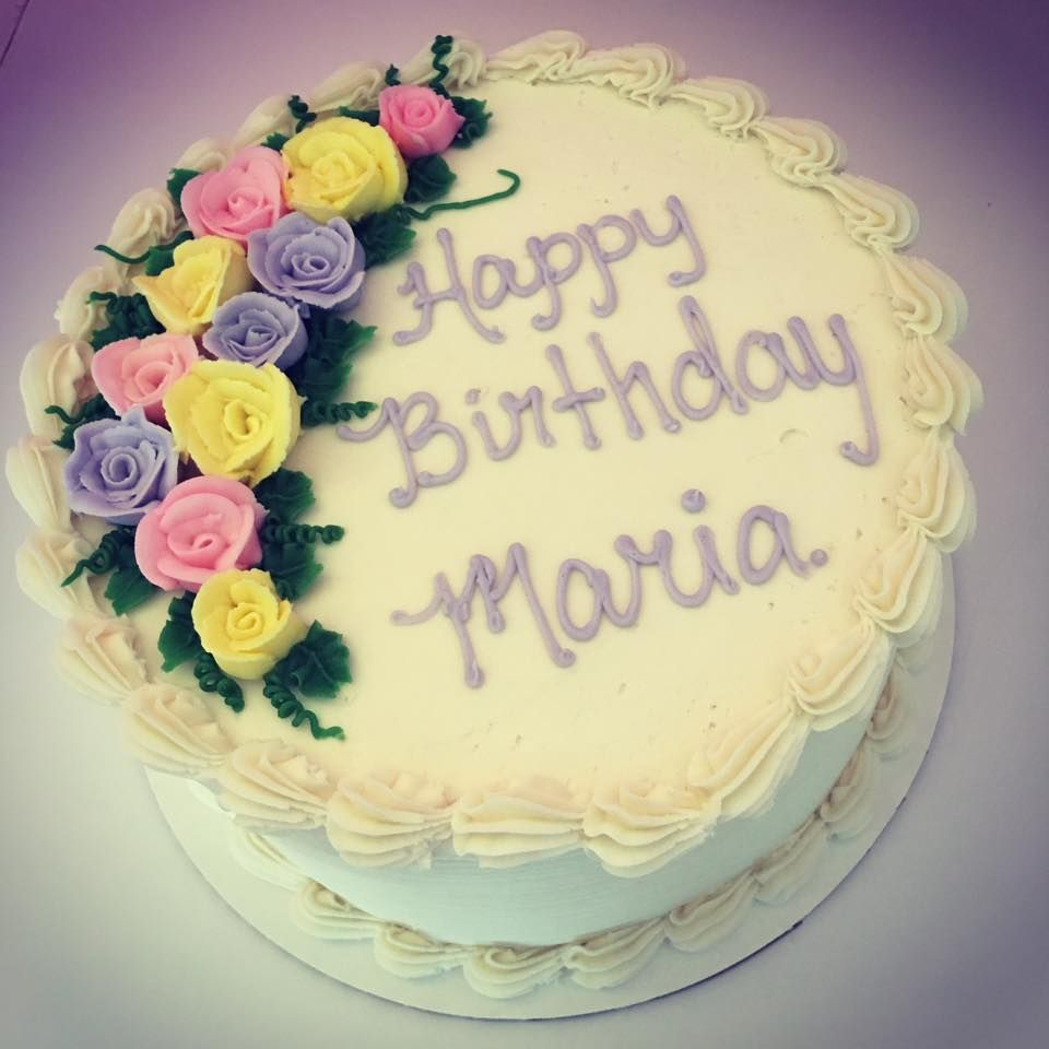 Traditional Buttercream Roses Birthday Cake Birthday Cakes