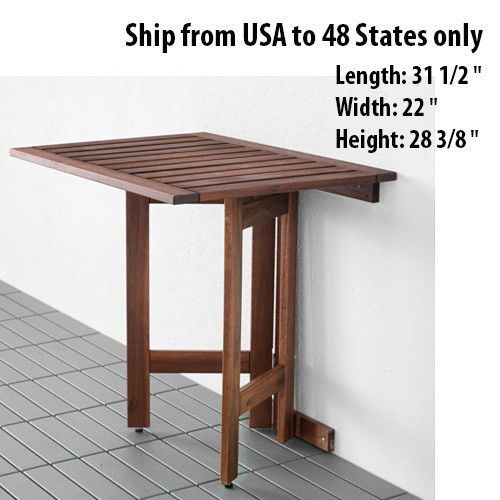 Captivating Wooden Folded Folding Desk Wall Mounted Drop Leaf Portable Outdoor Indoor  Table