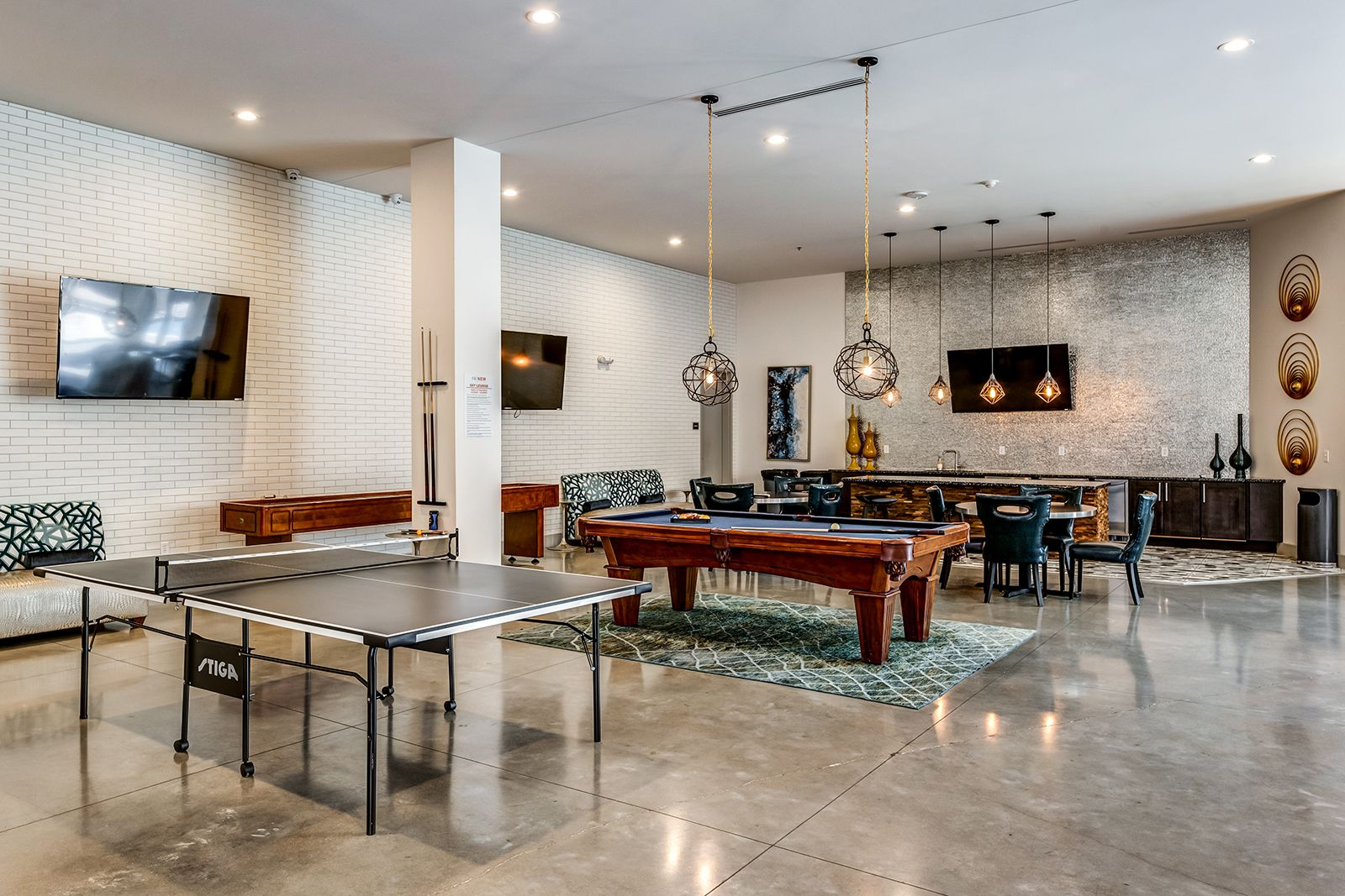 Challenge your fellow residents to a game of pool or ping
