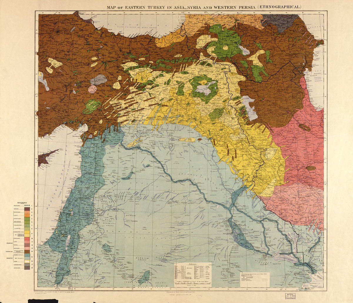 Royalty Free Map%0A Ethnic map of eastern Turkey  Syria and western Persia