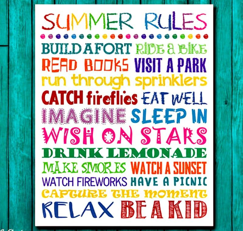 The Perfect Summer Rules for Kids – Screen Free Time. | Summer ...