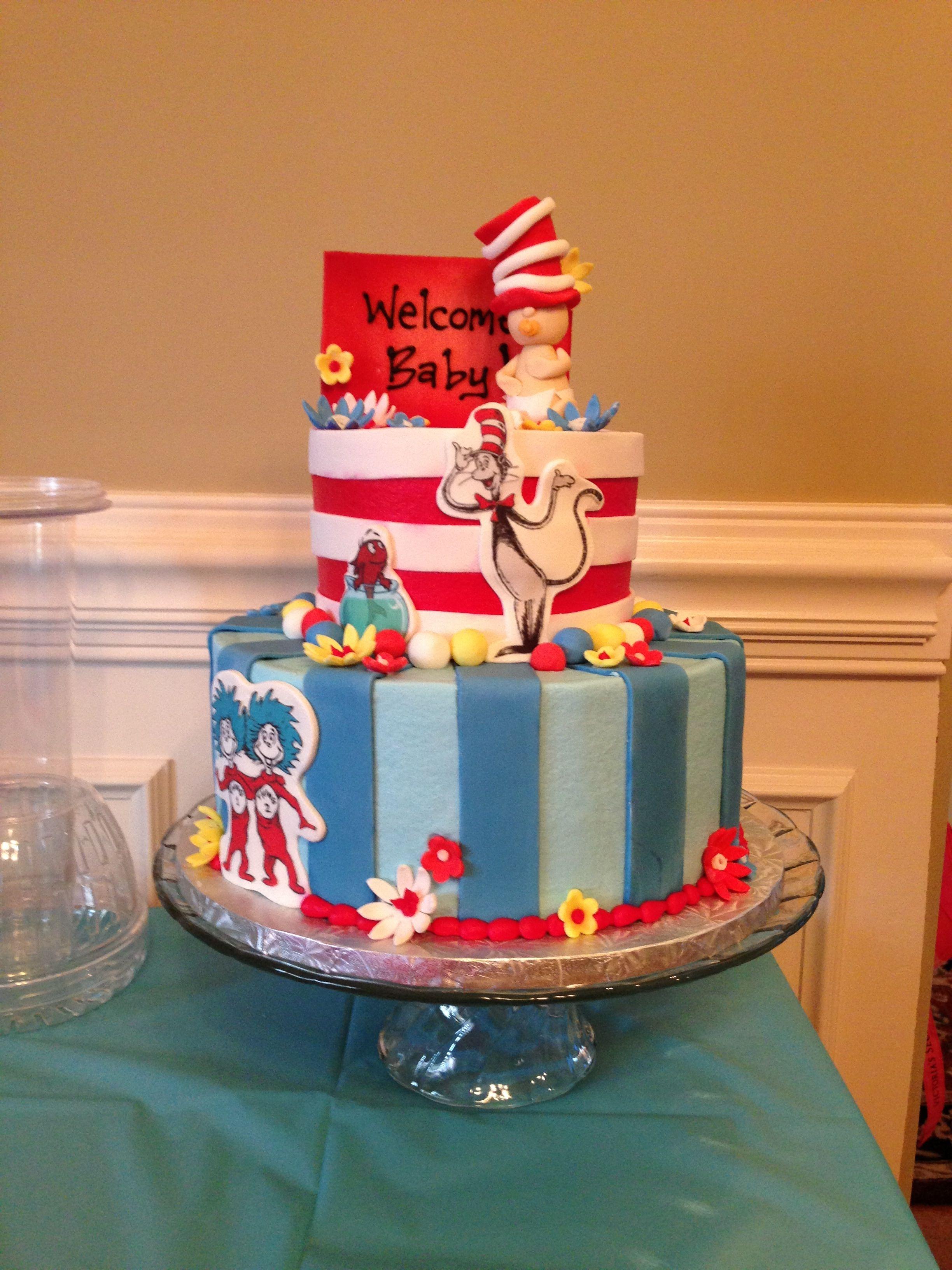 Dr Seuss Baby Shower Cake Seuss Baby Shower Cake Seuss Baby