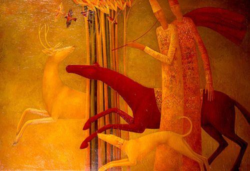 Golden Stag by Timur D'Vatz