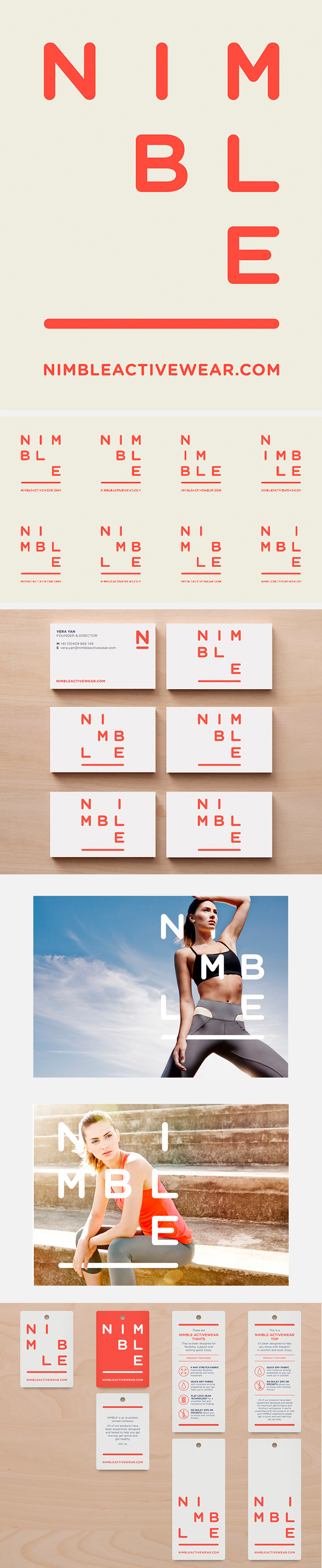 Nimble activewear brand ID