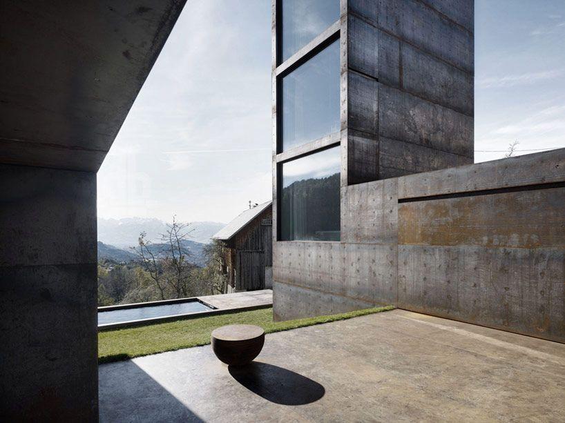 marte marte architekten design cor-ten steel tower for family