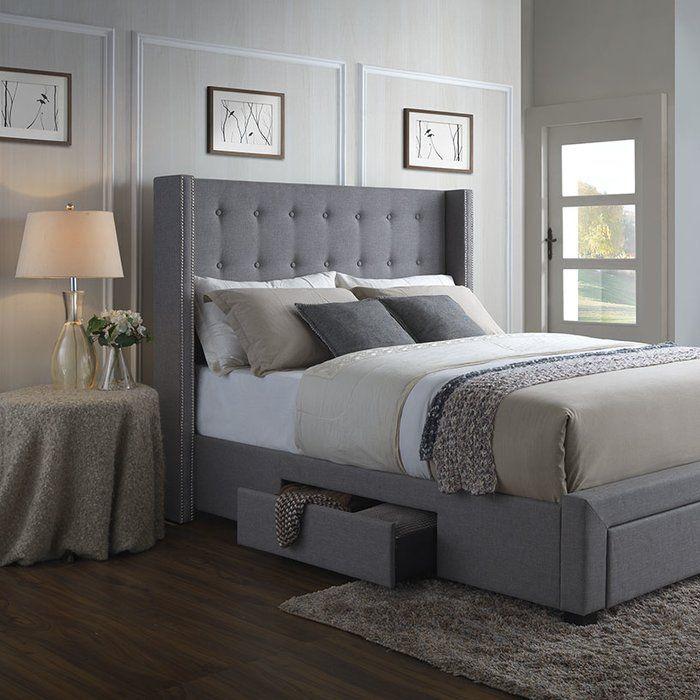 Thousand Oaks Savoy Storage Wingback Panel Bed