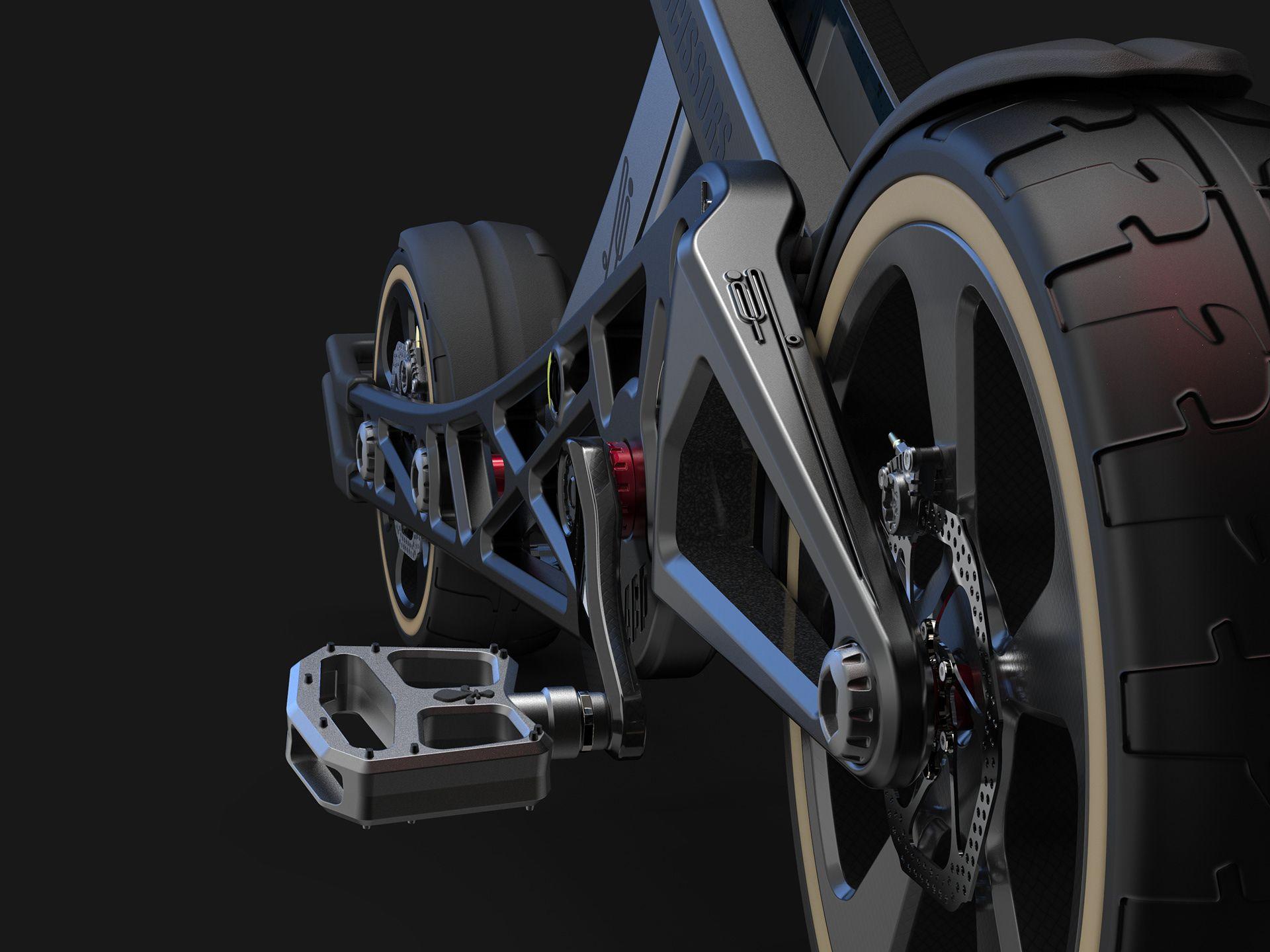 SCISSORS BIKE on Behance in 2020 Bike, Folding bike, Ebike