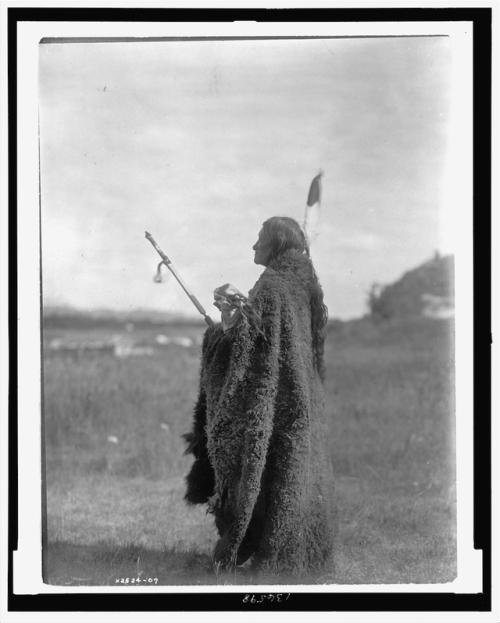 Saliva, Oglala priest at the Hu-Kalowa-Pi ceremony
