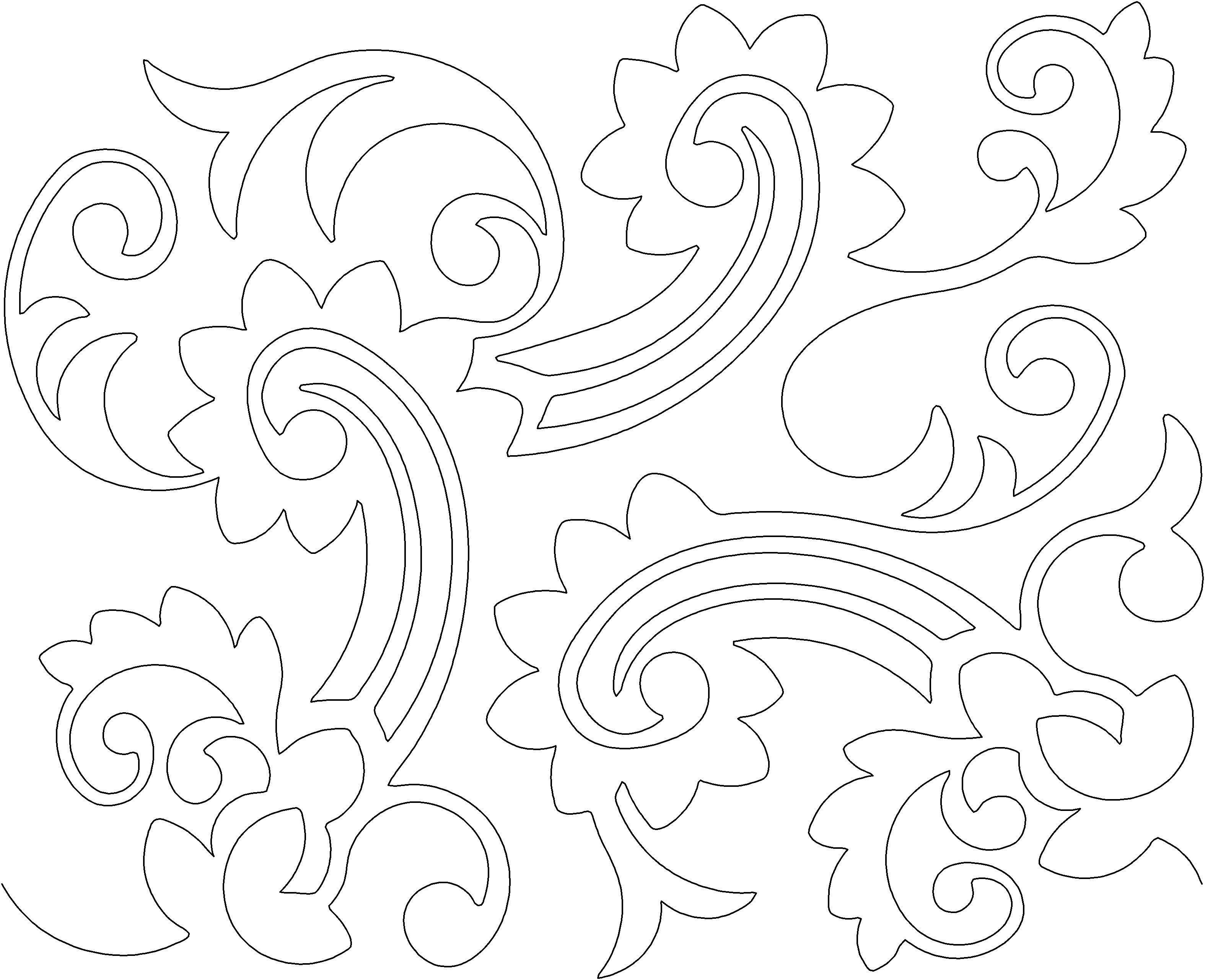 Paisley sun swirls curls longarm quilt patterns pinterest
