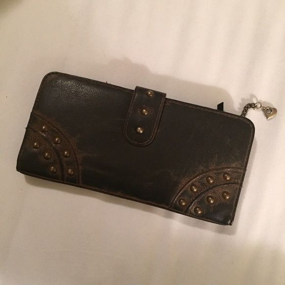 Fashion Wallet With Studs Like new. Perfect condition. Bags Wallets