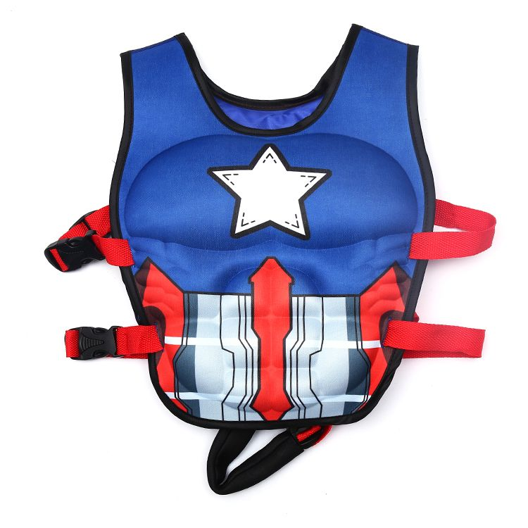 Cartoon Surfing Swimming Ring Pool Infant Kid Swimming Life Jacket Buoyancy 2-LD