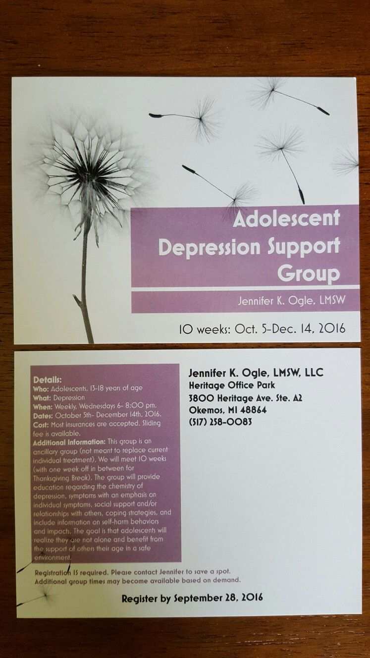 Depression support group information
