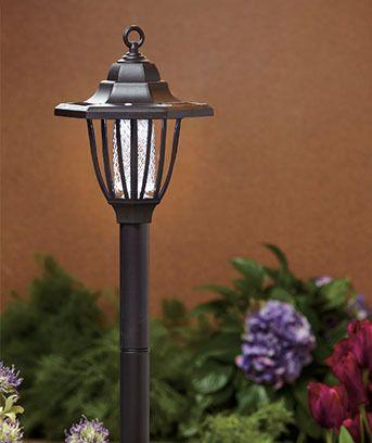 Solar Lamp Bug Zapper Yard Stake Outdoor Lawn Deck Porch Patio Light Art  Decor | EBay