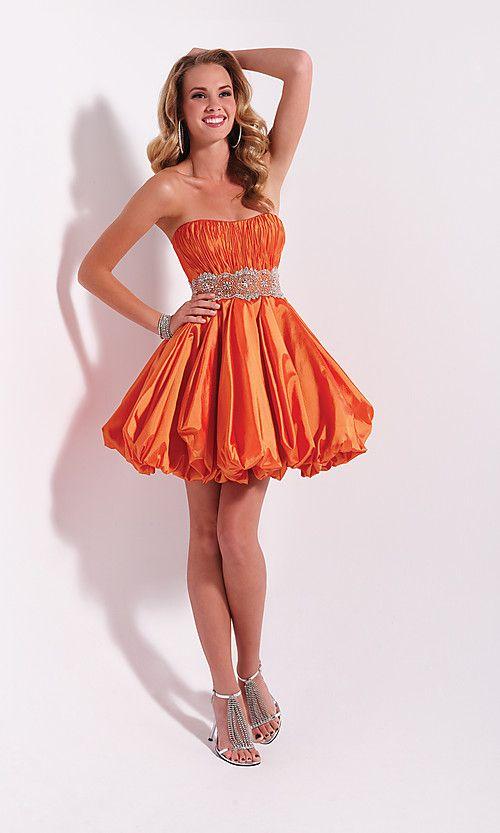 cutenfanci.com orange cocktail dress (01) #cocktaildresses ...
