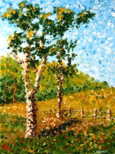 Mark Webster Impressionist Tree Landscape Acrylic Painting By Artist Mark Adam Webster On Dailypainters Com Landscape Trees Landscape Paintings Landscape Paintings Acrylic