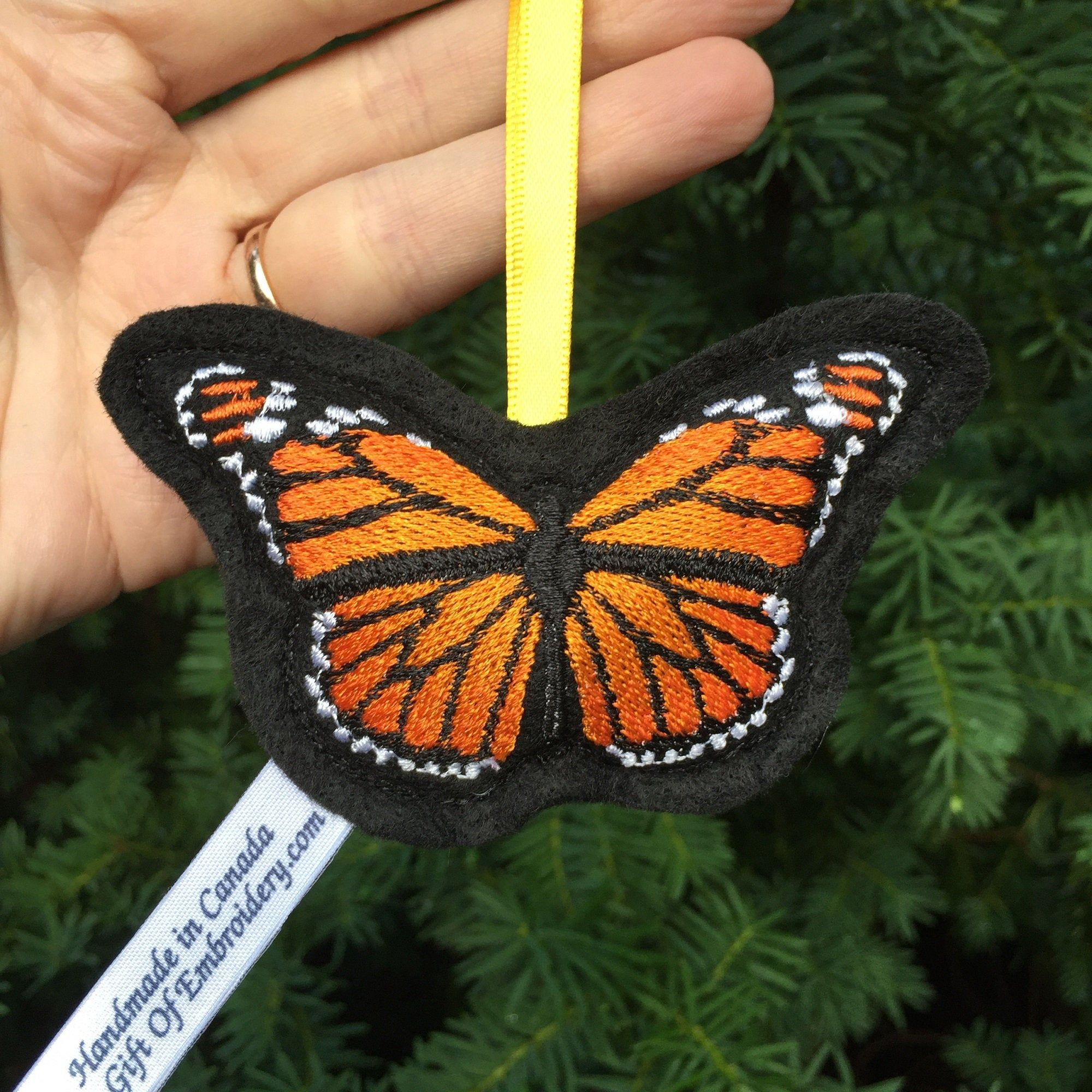 Monarch Butterfly tree ornament - Christmas decoration ...