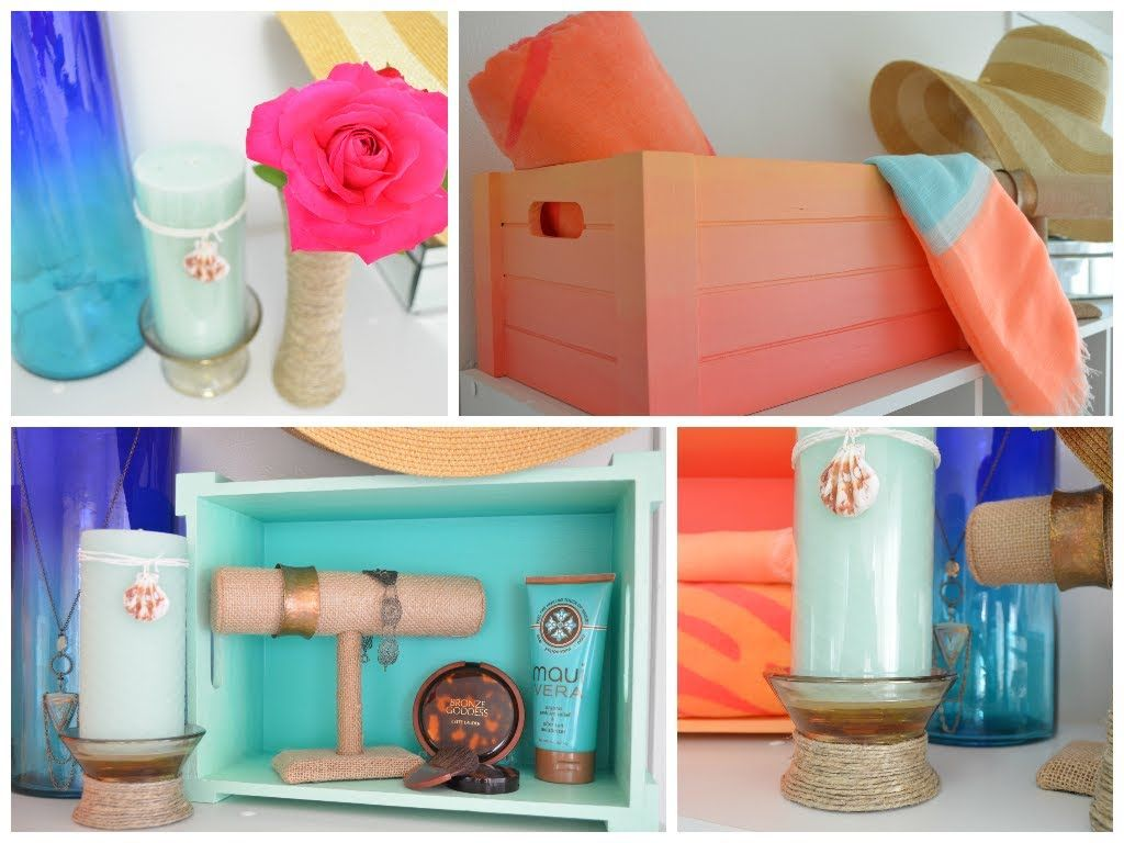 Diy Summer Room Decor Ideas How To Paint The Ombre Effect