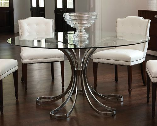 Blossom Table Base Only Glass Round Dining Table Glass Dining