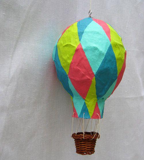 3-D Hot Air Balloon Paper Decorations
