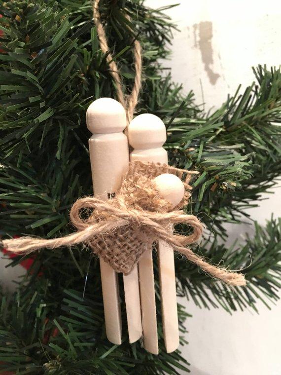 Baby Jesus Mary Joseph Christmas Ornament Clothespin Etsy In 2020 Clothespin Crafts Christmas Christmas Clothespins Christmas Crafts Diy