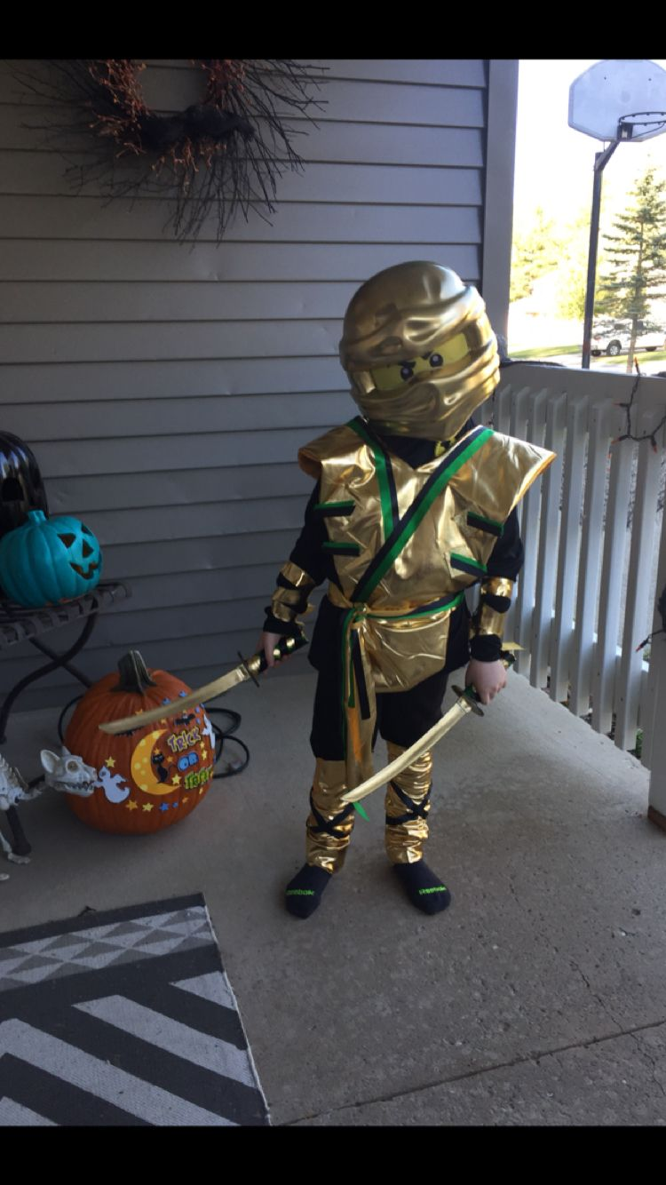 Gold Ninjago costume 2017. Gold Lloyd costume