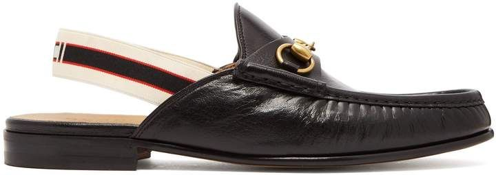 dcf2e03dd Gucci Horsebit slingback-strap backless leather loafers   Products ...
