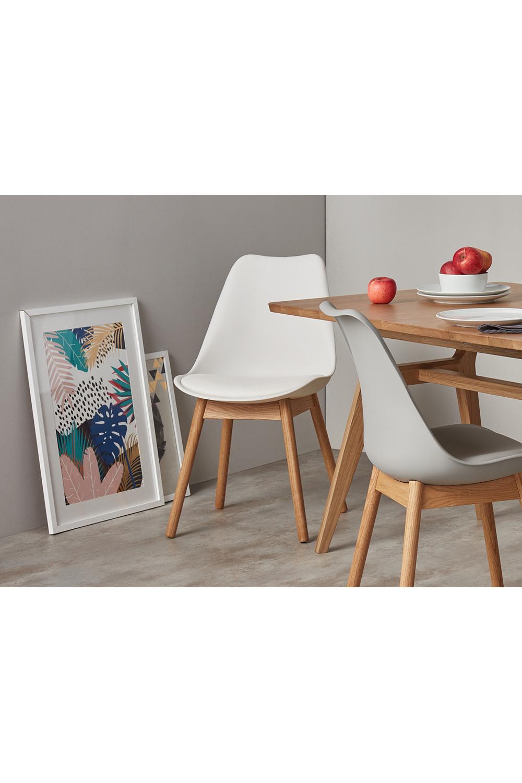 2 x Thelma Esszimmerstühle, Eiche und Weiß   Esszimmerstühle