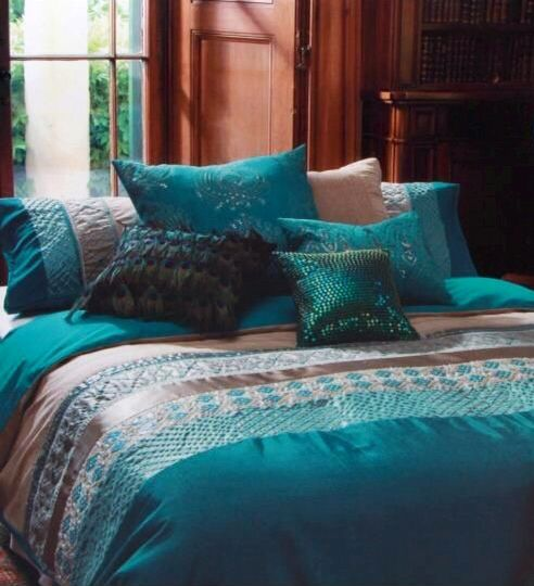 teal and gold bedroom cropped kas australia bed zephyr quilt cover set 17466
