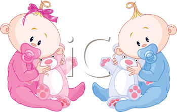 ec4e478bf98f New Baby Clipart - Boy and Girl Babies