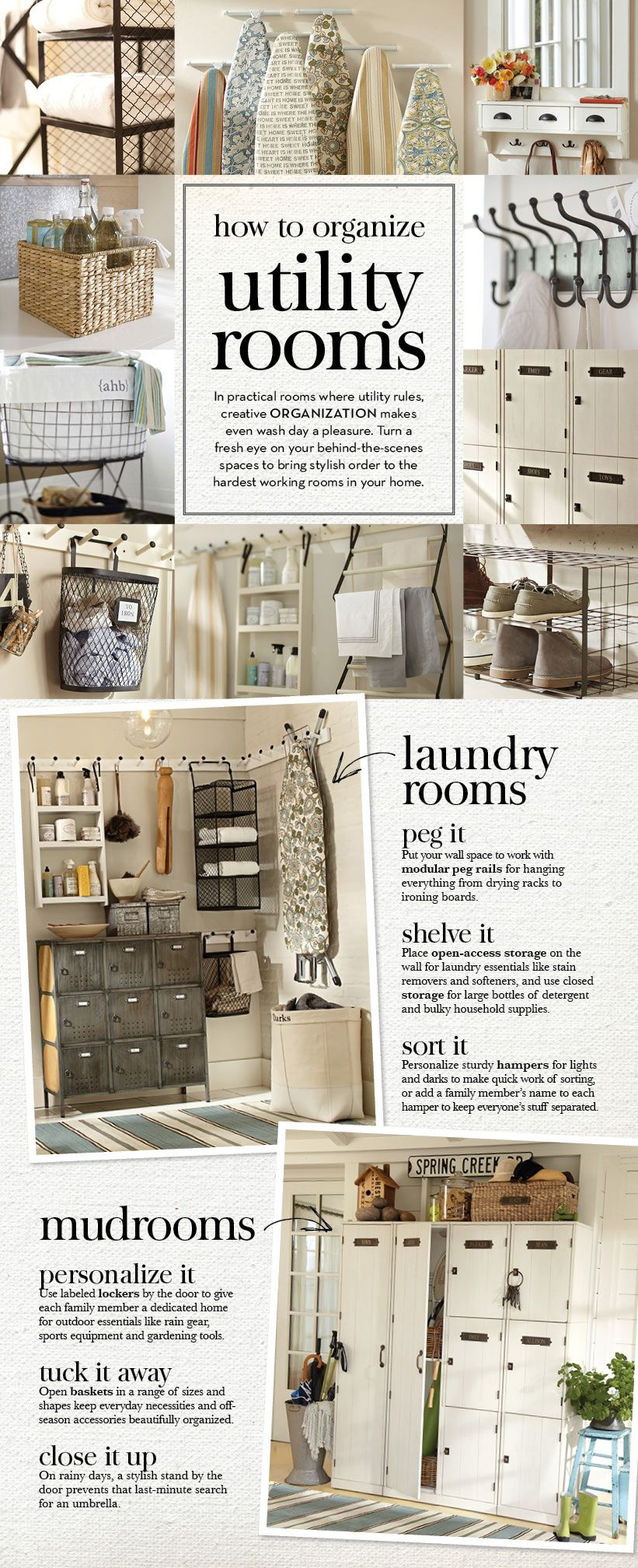 laundry room how to organize utility rooms pottery. Black Bedroom Furniture Sets. Home Design Ideas