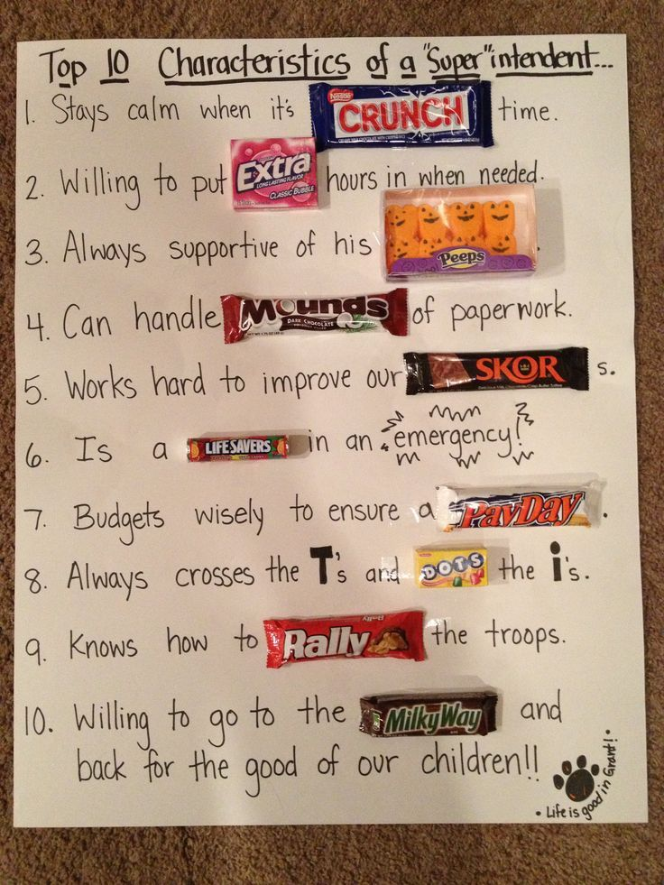 Diy Gifts For Boss Day Bosses Day Gifts Bosses Day Cards Candy Poster